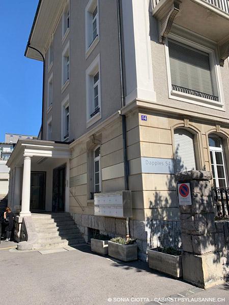 Cabinet de psychologie et psychothérapie à Lausanne, Rue Dapples